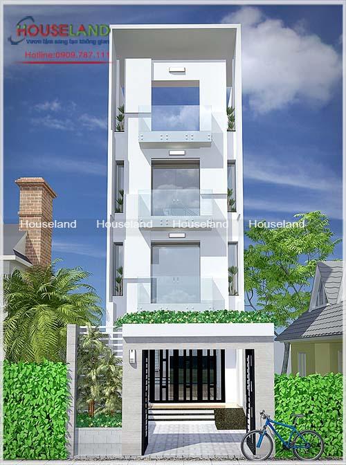 10 mẫu thiết kế nhà phố hiện đại 4 tầng nổi bật năm 2016