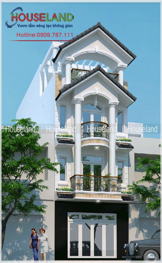Thiết kế nhà phố tân cổ điển 5x20m