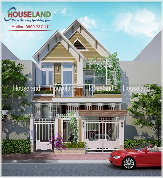 Mẫu thiết kế nhà ở 1 trệt 1 lầu