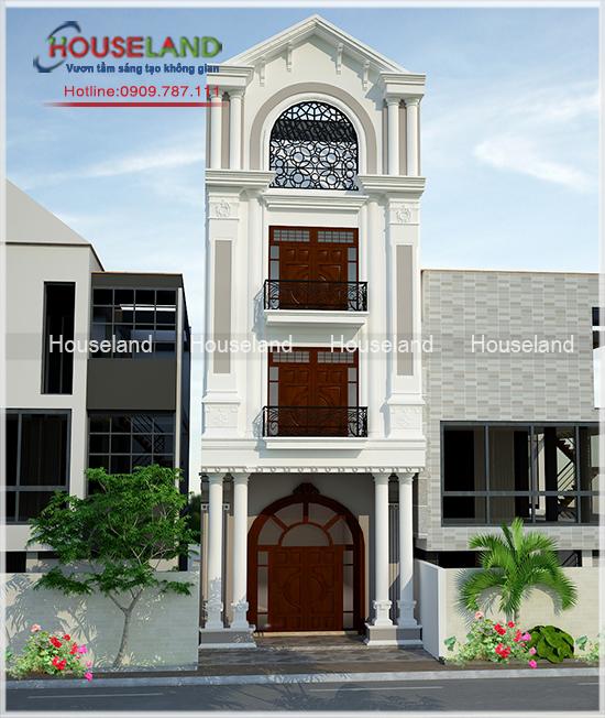 Mẫu thiết kế nhà phố tân cổ điển 5x18m