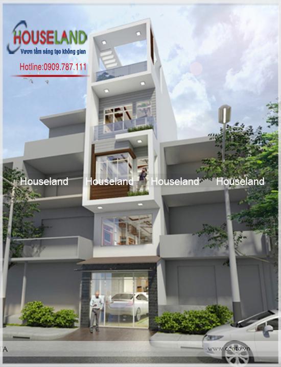 Nhà phố 4 tầng và 1 tum 5x15m-NPHĐ002