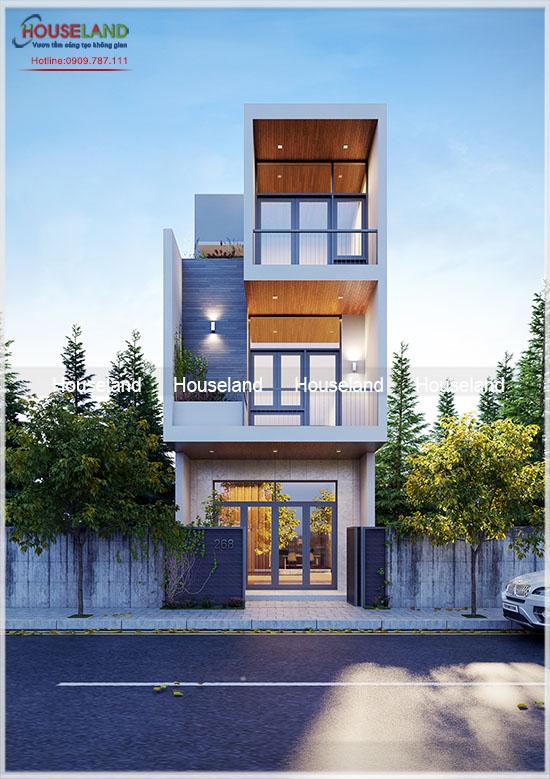 Mẫu thiết kế nhà đẹp 3 tầng ấn tượng