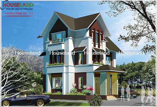 Công trình biệt thự hiện đại 130m2 nhà chị An Đồng Nai