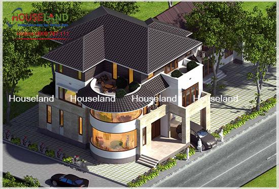Biệt thự phố 3 tầng 210m2 nhà chị Kim Đà Nẵng