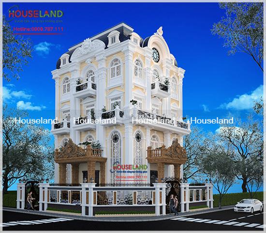 Thiết kế biệt thự cổ điển 5 tầng nhà Phong quận 7, TPHCM