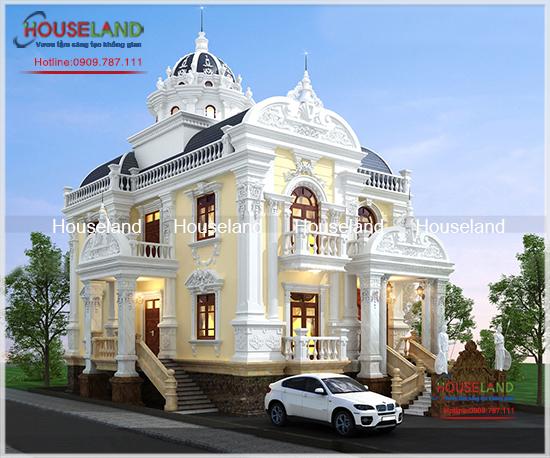 Mẫu biệt thự cổ điển Pháp 260m2 nhà chị Ngọc Phú Quốc
