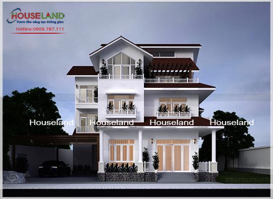Mẫu biệt thự phố 3 tầng đẹp nhà anh Phúc Bình Phước