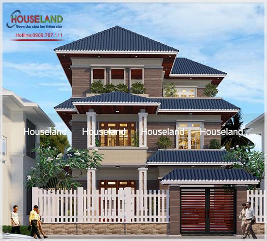 Mẫu thiết kế biệt thự phố 3 tầng đẹp của gia đình Chị Thảo