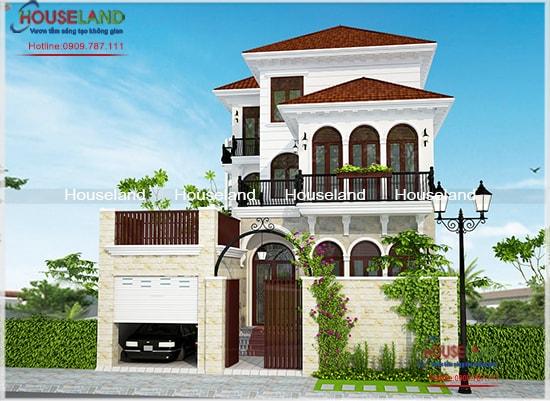 Mẫu thiết kế biệt thự phố tân cổ điển 10x21m