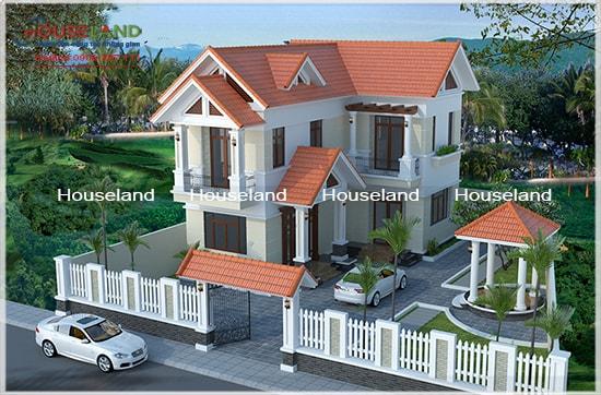 Thiết kế biệt thự hiện đại 2 tầng, biệt thự hiện đại, biệt thự sân vườn
