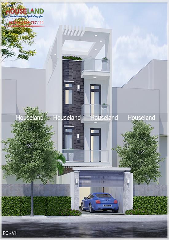 Thiết kế nhà phố đẹp, mẫu nhà phố đẹp, nhà phố hiện đại