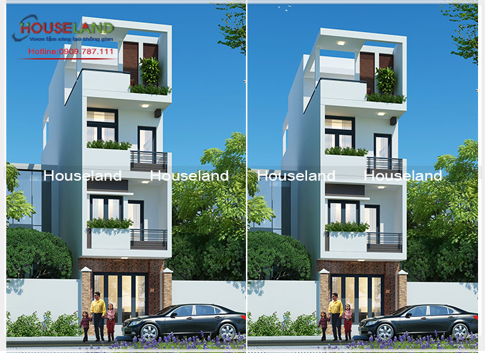 Mẫu nhà phố 3 tầng 1 tum hiện đại đẹp