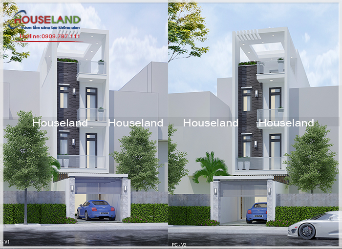 Mẫu thiết kế nhà phố 5x20m 4 tầng đẹp