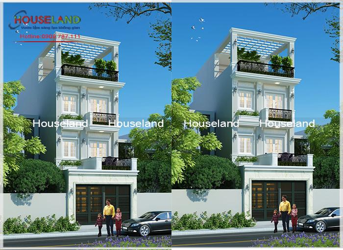 Mẫu thiết kế nhà phố 6x18m đẹp