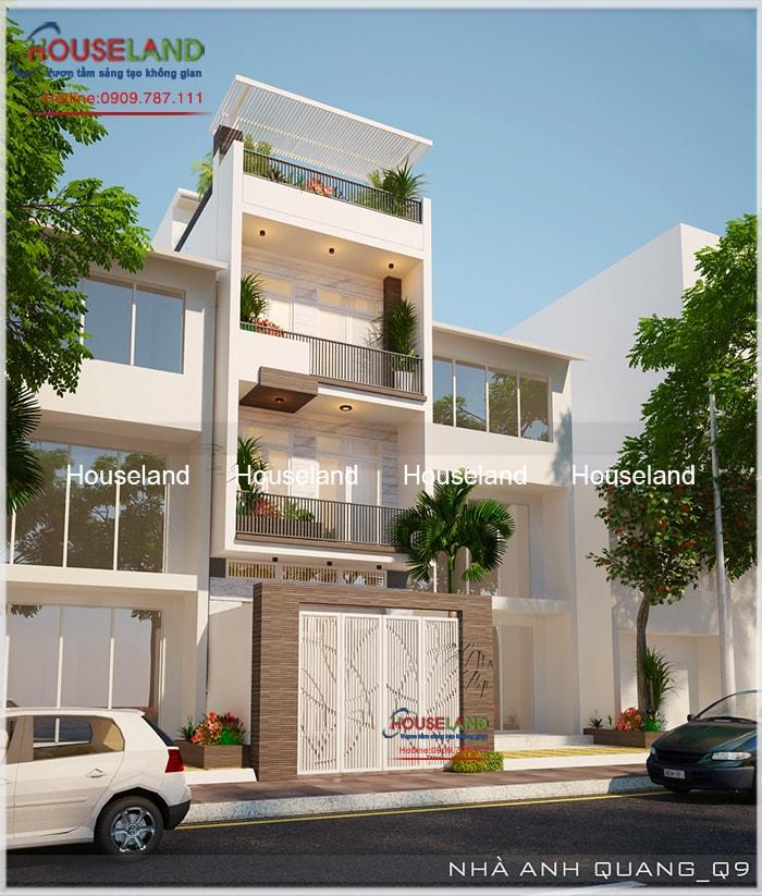 Thiết kế nhà phố 5x17m, thiết kế nhà phố hiện đại, nhà phố hiện đại đẹp