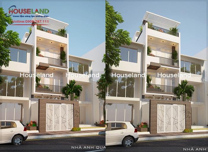 Thiết kế nhà phố 5x17m 4 tầng đẹp
