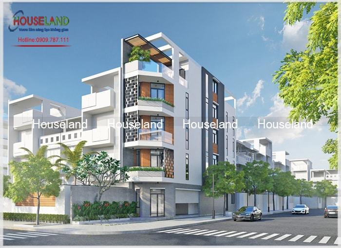 Thiết kế nhà phố 4x20m 2 mặt tiền đẹp
