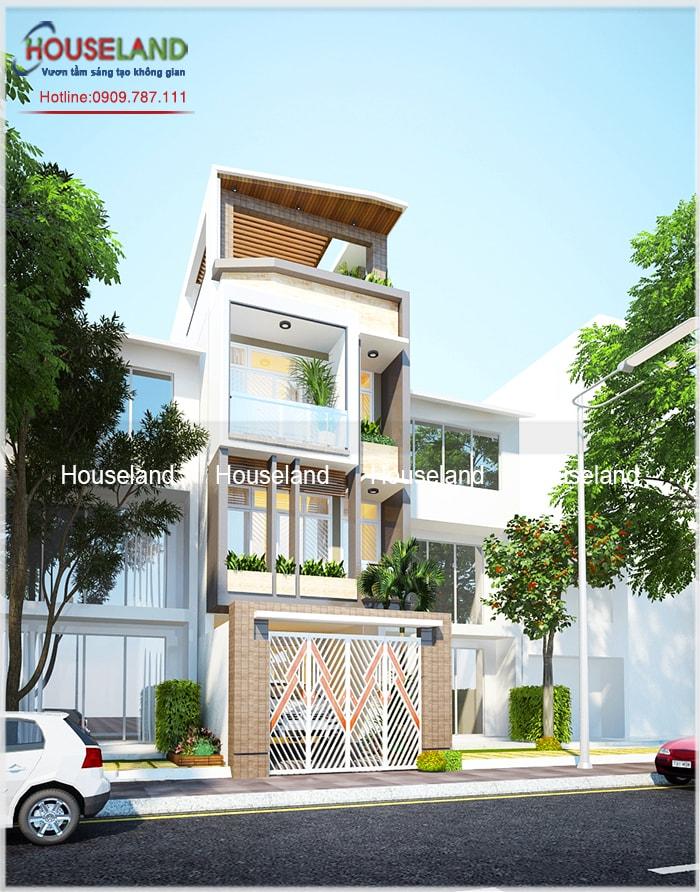 Thiết kế nhà phố 5x18m, thiết kế nhà phố hiện đại, nhà phố hiện đại đẹp