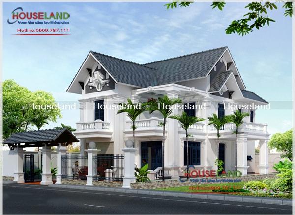 Thiết kế biệt thự 9x14m tân cổ điển tại Bình Phước