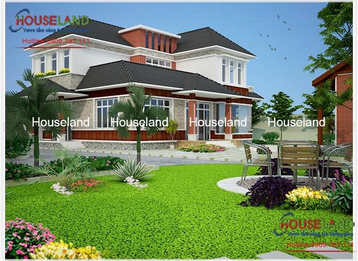 Mẫu thiết kế biệt thự nhà vườn 2 tầng tại Long An