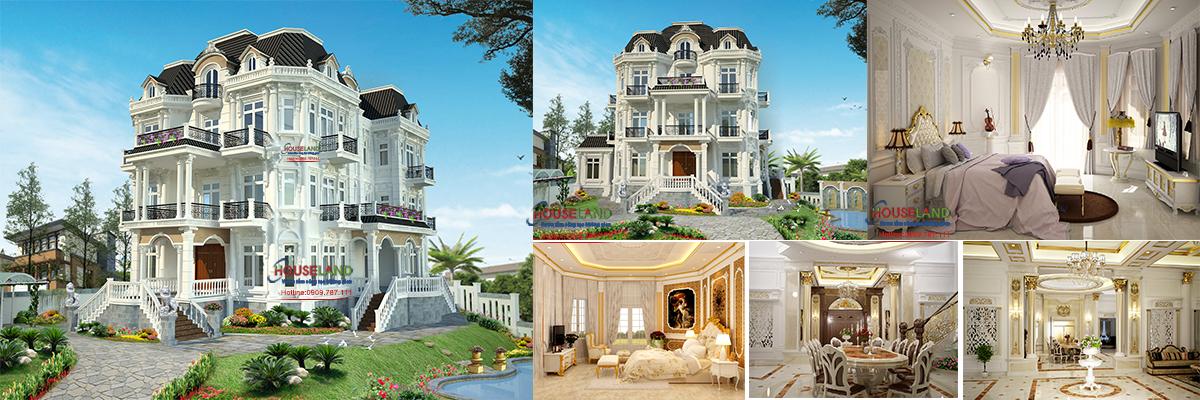 Mẫu biệt thự cổ điển 3 tầng kiểu Pháp sang trọng