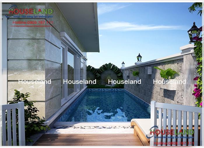 Mẫu thiết kế biệt thự hiện đại có hồ bơi đẹp, biệt thự hiện đại