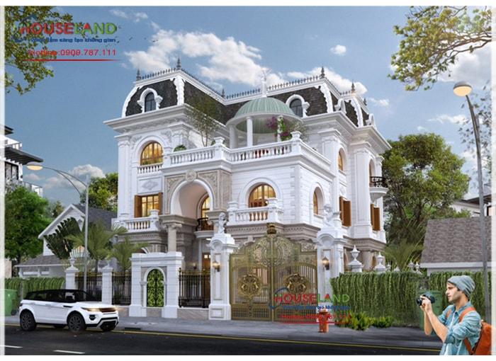Thiết kế biệt thự phố 9x13m phong cách cổ điển Pháp