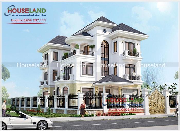 Thiết kế biệt thự phố 13x22m phong cách tân cổ điển