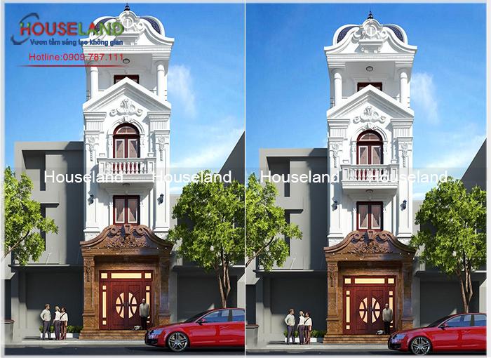 Thiết kế nhà phố cổ điển đẹp