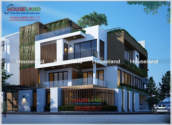 Mẫu biệt thự hiện đại mái bằng, thiết kế biệt thự hiện đại, biệt thự phố hiện đại đẹp