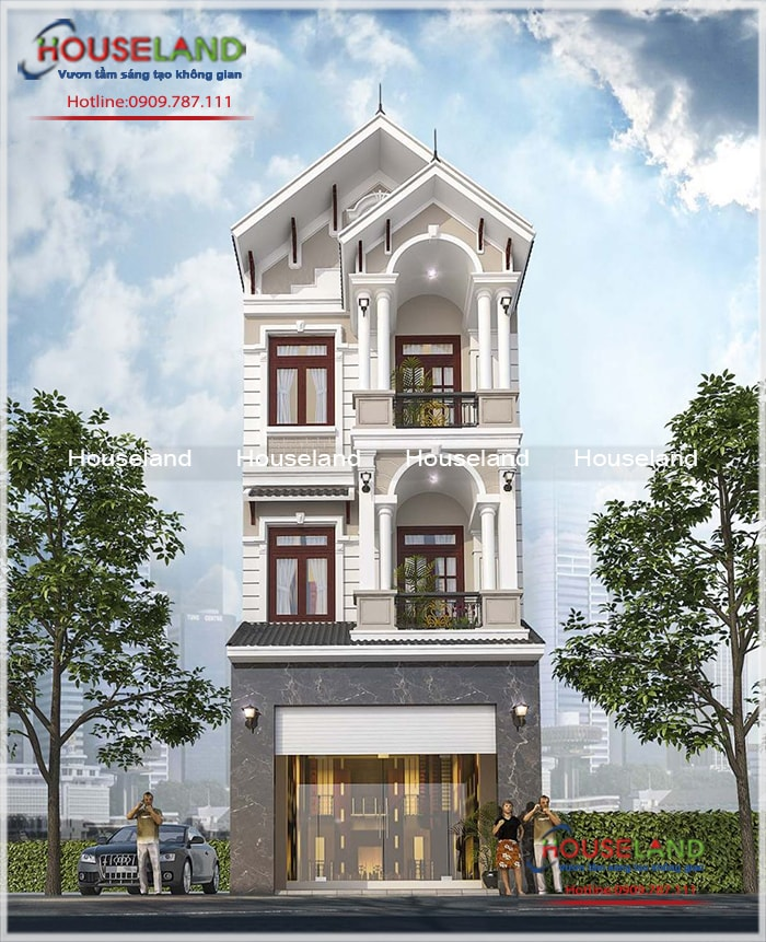 Thiết kế nhà phố 5x12m, thiết kế nhà phố hiện đại, nhà phố hiện đại đẹp