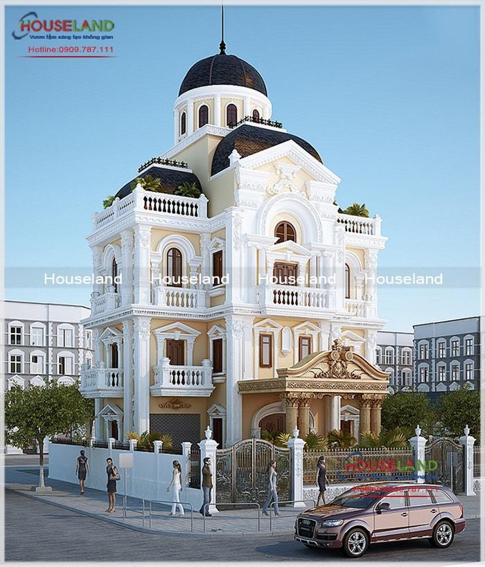 Thiết kế biệt thự phố cổ điển, biệt thự phố cổ điển, biệt thự tân cổ điển đẹp