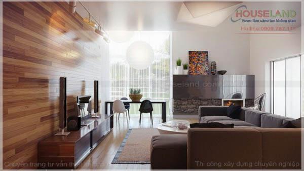 Mẫu thiết kế nội thất biệt thự phố đẹp hiện đại