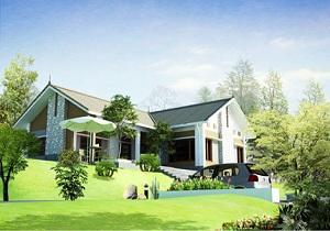 Thiết kế biệt thự vườn 1 tầng đẹp đầy đủ tiện nghi