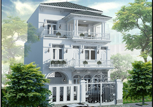 Biệt thự tân cổ điển sang trọng và hiện đại ở Hà Nội
