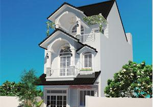 Mẫu thiết kế nhà Phố mái dốc 3 tầng nhà anh Thái Quận 2