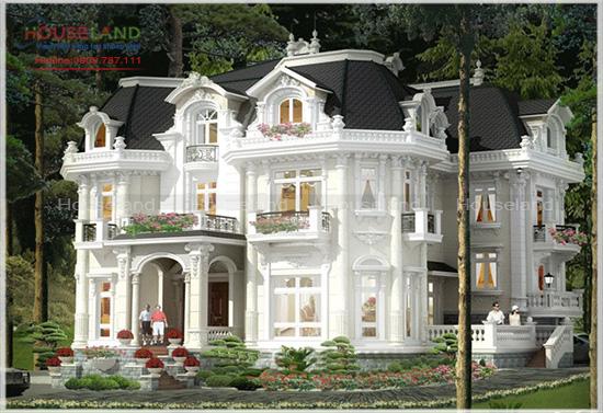 Mẫu biệt thự phong cách lâu đài