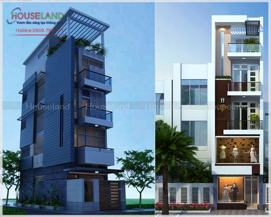 Mẫu thiết kế nhà phố hiện đại 5 tầng