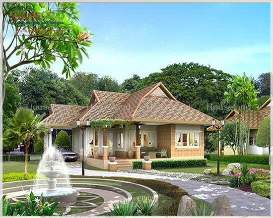 Thiết kế biệt thự vườn mái thái đẹp và phong cách